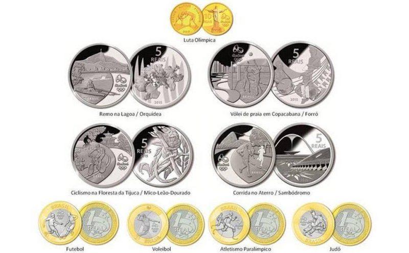 Moedas comemorativas dos Jogos Olímpicos